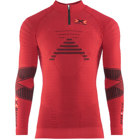 X-Bionic Trail Running Effektor OW LS Zip-Up Top Men, paprika/black